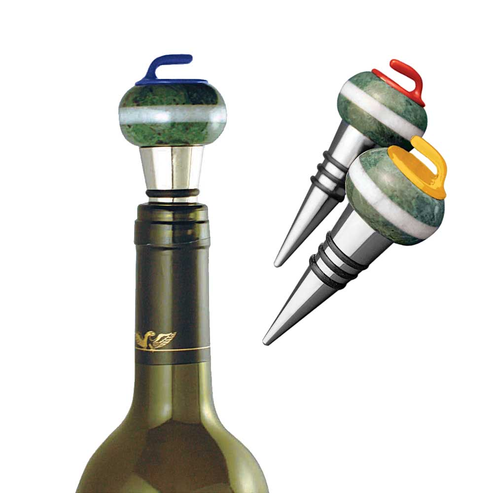Goldline Curling Rock Wine Flaskestopp
