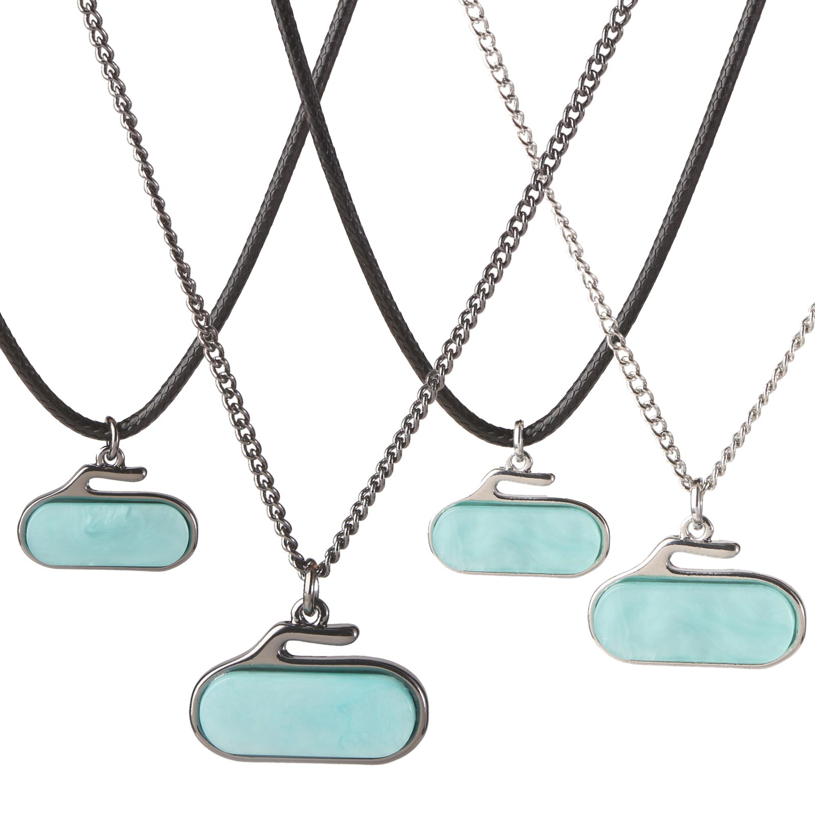 Necklace 2D Rock Turquoise Stone